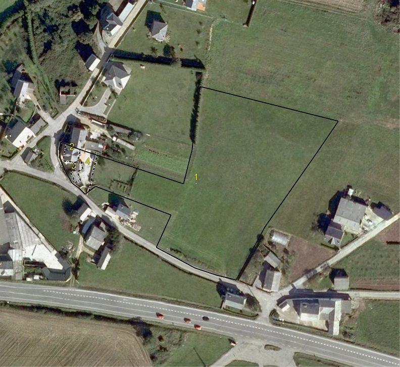 Campos de Herminia Vista aerea de la finca. Plantacion de arandanos ecologicos